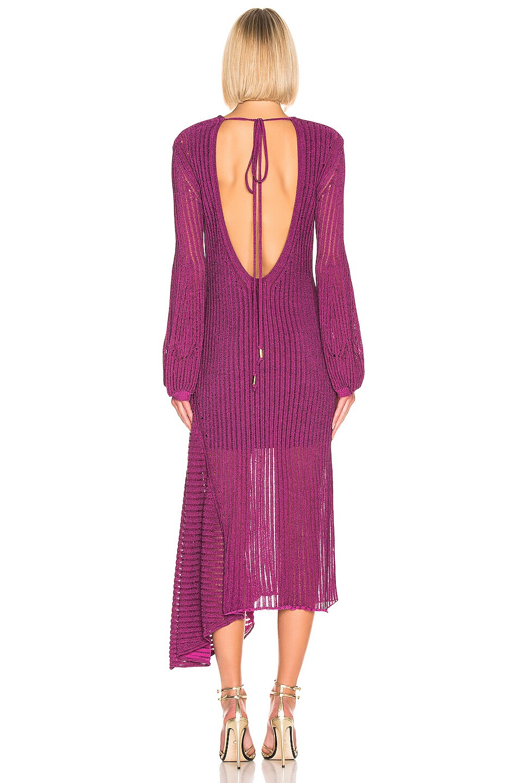 Image 4 of Chloe Rib Open Back Knit Dress in Violet Purple