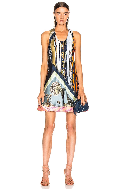 Image 1 of Chloe Caravane Print Dress in Multicolor Blue