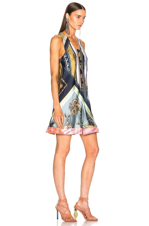 Image 2 of Chloe Caravane Print Dress in Multicolor Blue