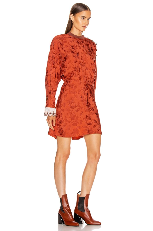 Image 2 of Chloe Long Sleeve Mini Dress in Burnt Ochre