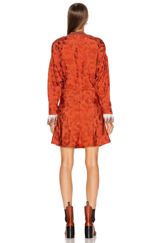 Image 4 of Chloe Long Sleeve Mini Dress in Burnt Ochre