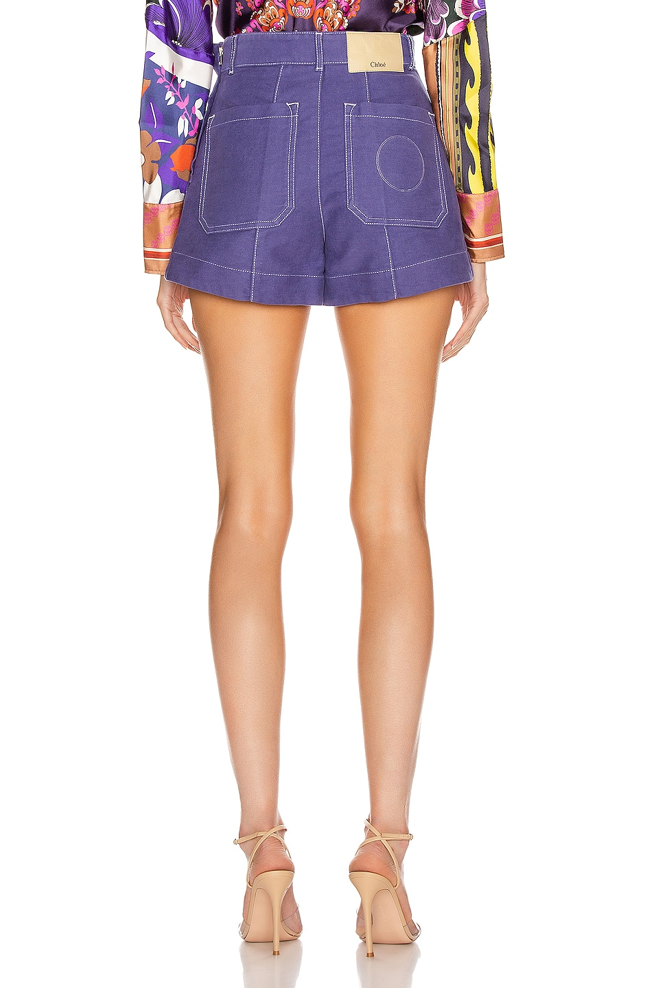 Image 3 of Chloe Tailored Short in Lilac Navy