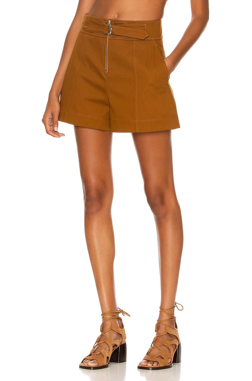 Image 1 of Chloe Belted Short in Brick Brown