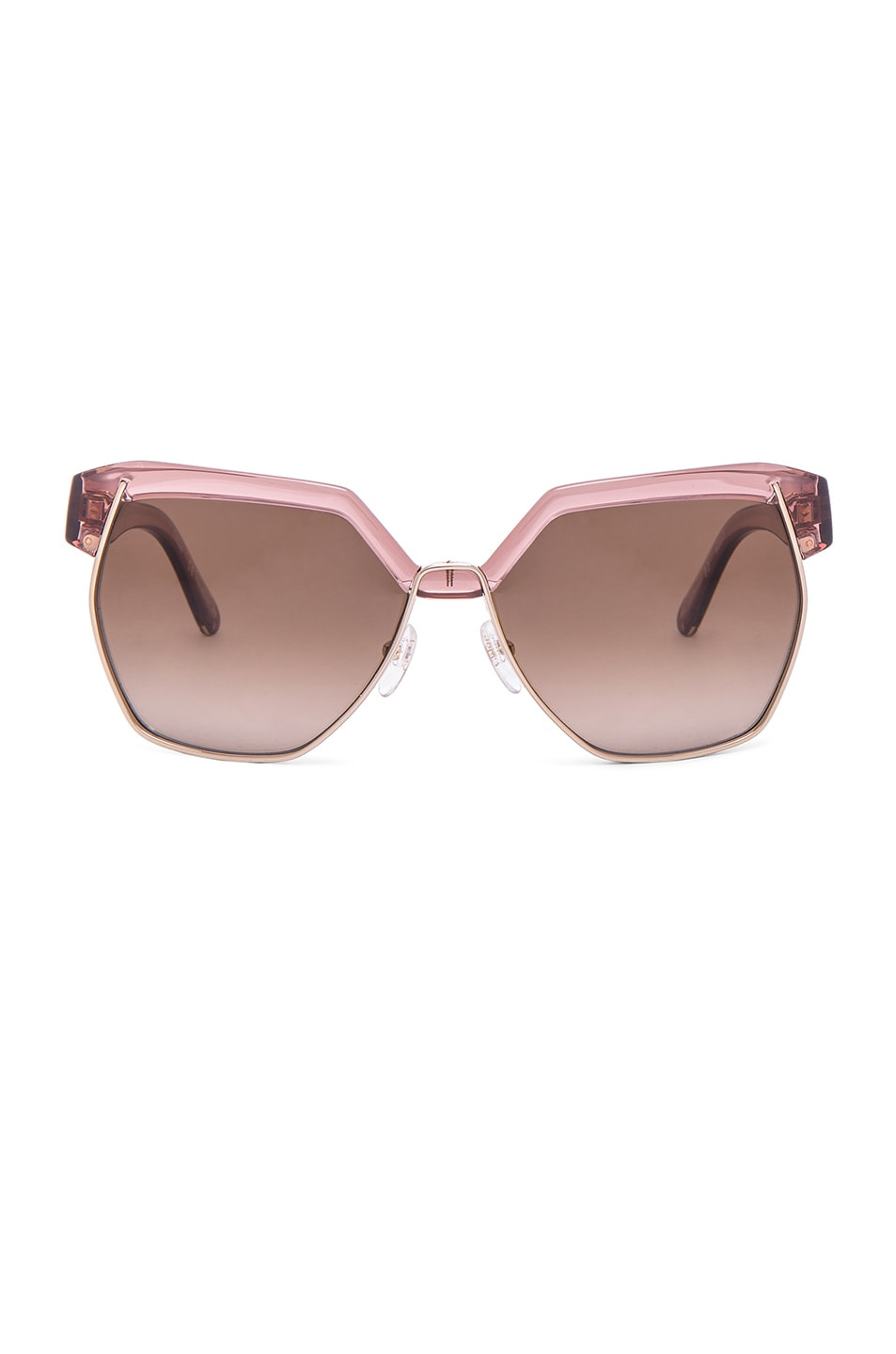 Image 1 of Chloe Dafne Sunglasses in Antique Rose