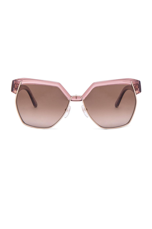 Image 1 of Chloe Dafne Sunglasses in Antique Rose