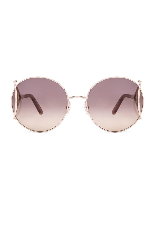 Image 1 of Chloe Jackson Sunglasses in Gold & Blonde Havana