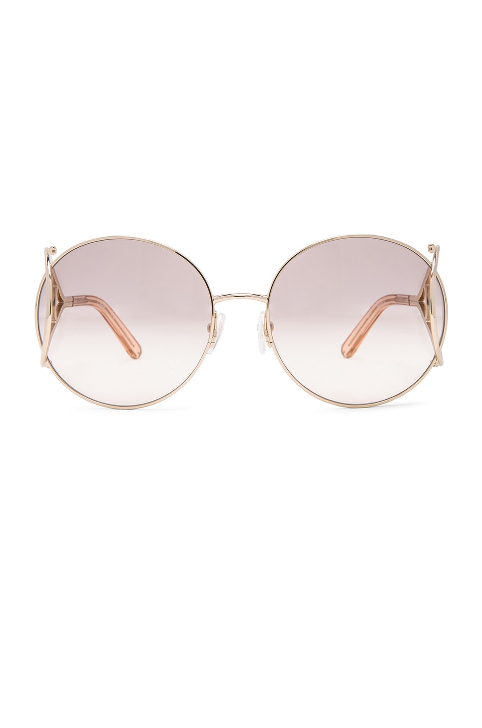 Image 1 of Chloe Jackson Sunglasses in Gold & Peach
