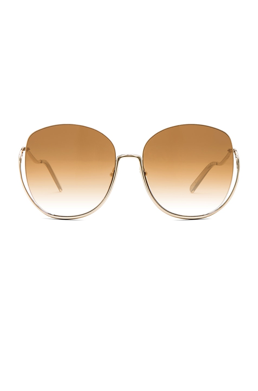 Image 1 of Chloe Milla Sunglasses in Gold Transparent Khaki