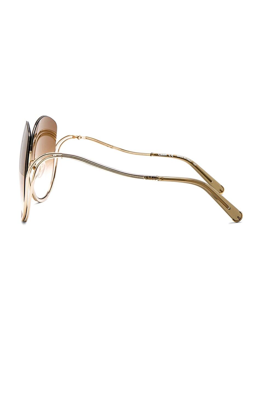 Image 2 of Chloe Milla Sunglasses in Gold Transparent Khaki