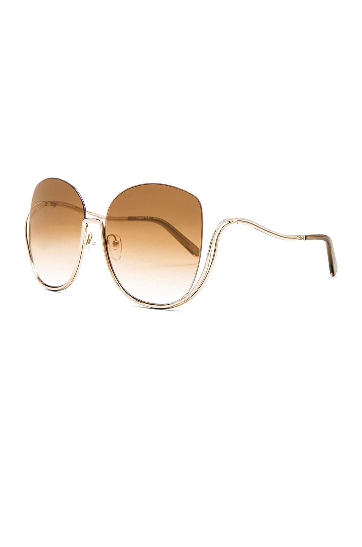 Image 3 of Chloe Milla Sunglasses in Gold Transparent Khaki