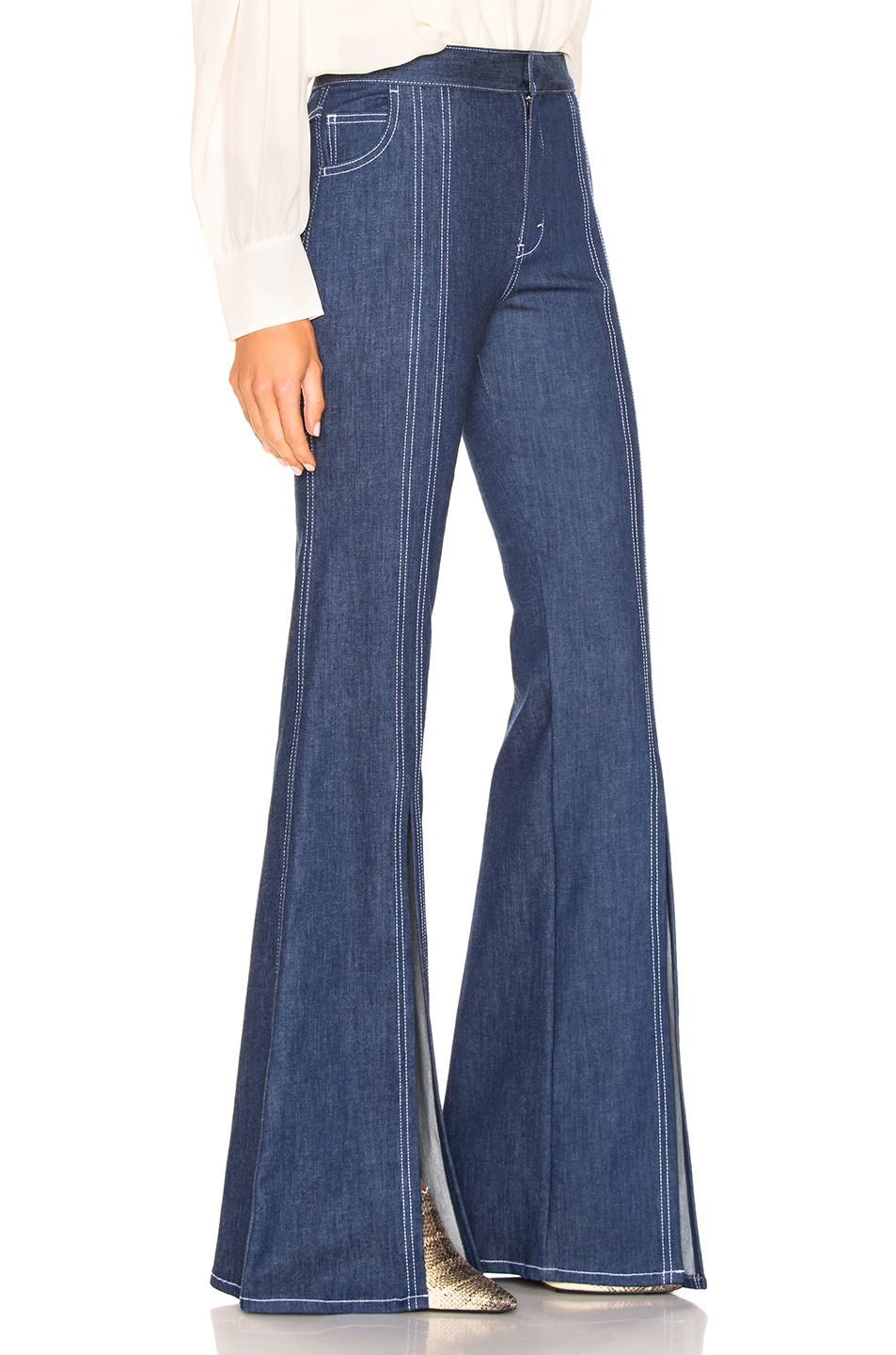Image 2 of Chloe Flare Jean in Denim Blue