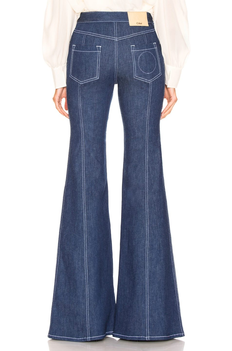 Image 3 of Chloe Flare Jean in Denim Blue