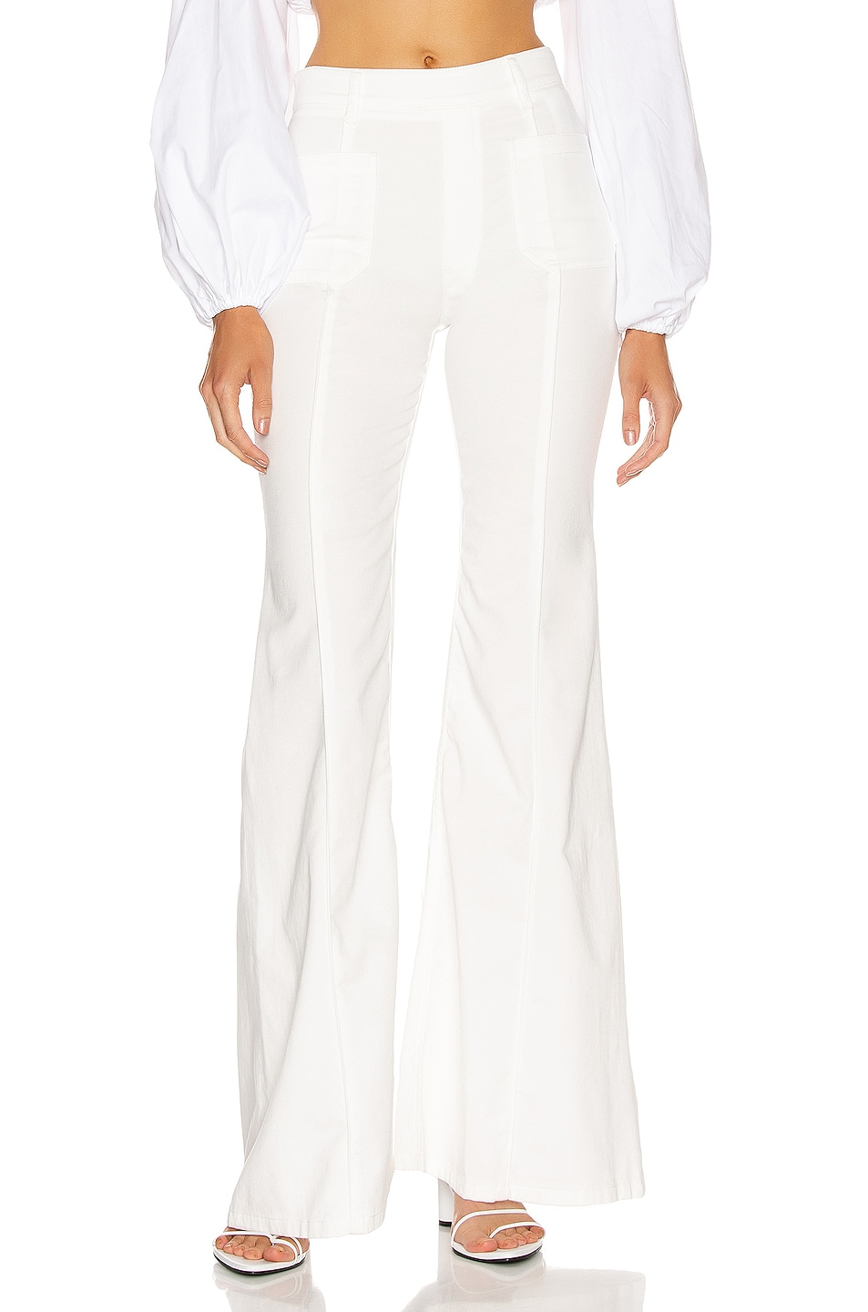 Image 1 of Chloe Light Denim Flare Jean in White