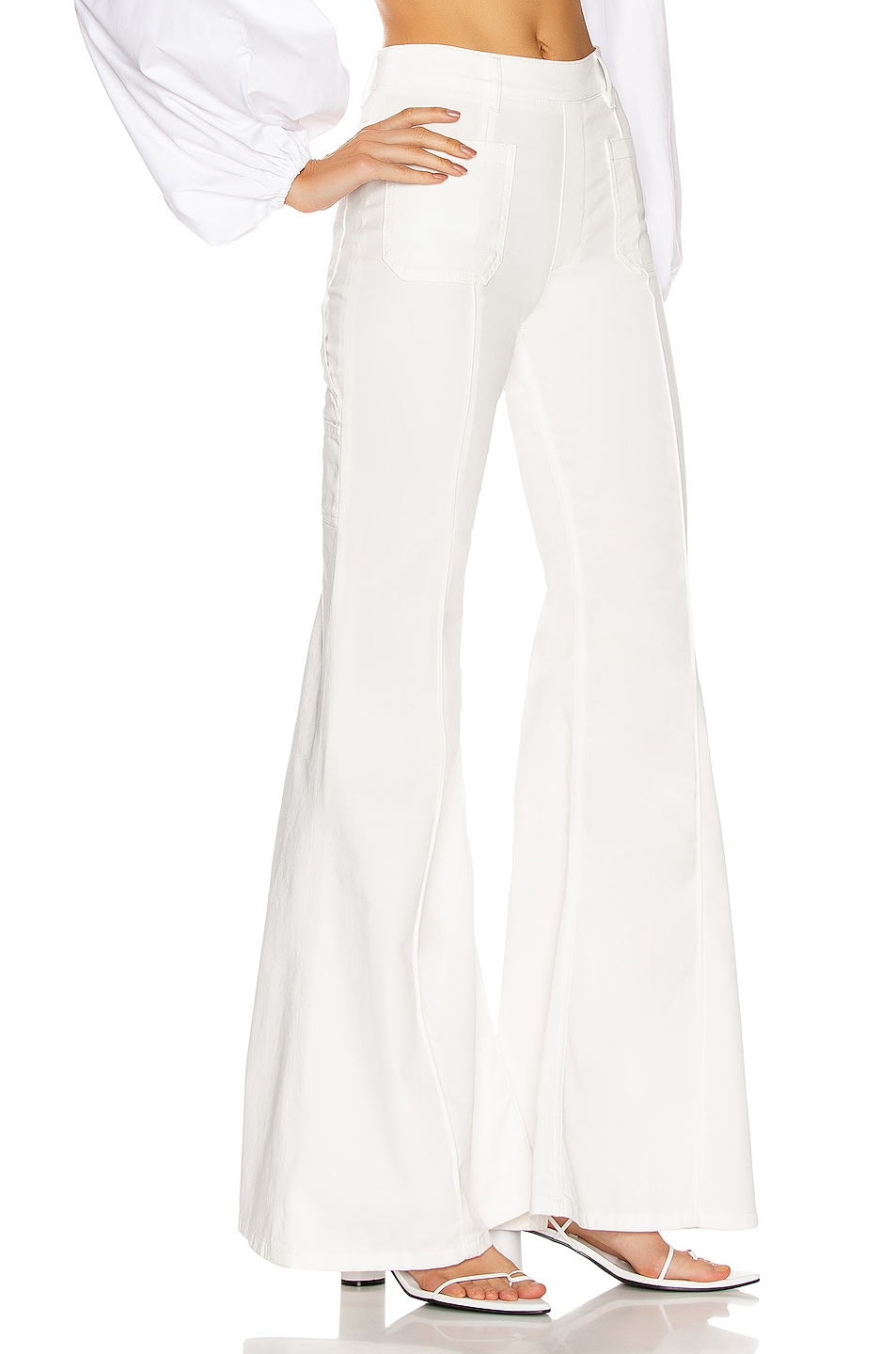 Image 2 of Chloe Light Denim Flare Jean in White