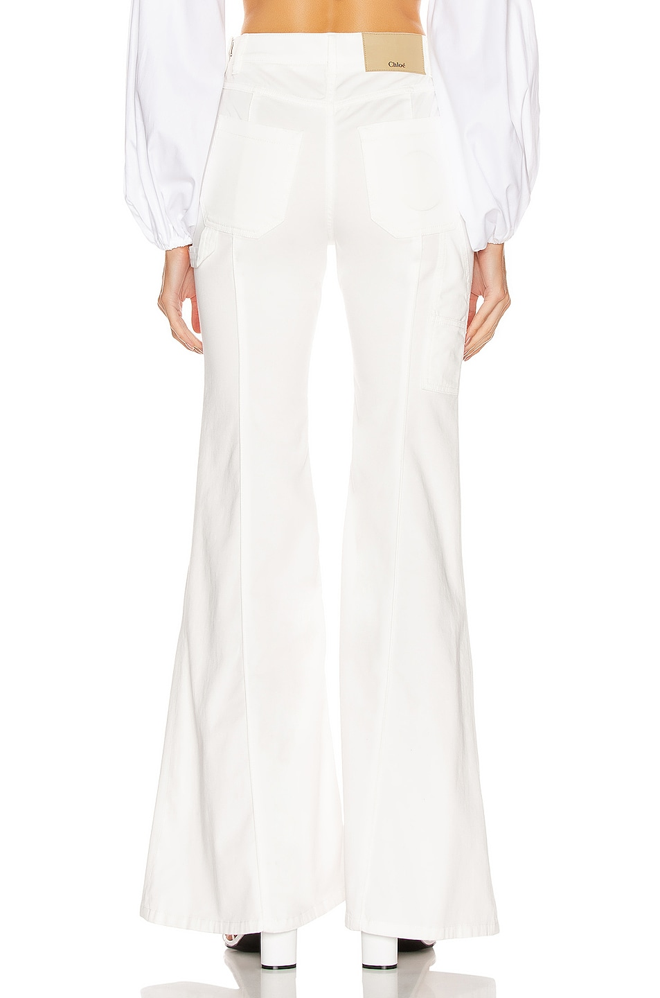 Image 3 of Chloe Light Denim Flare Jean in White