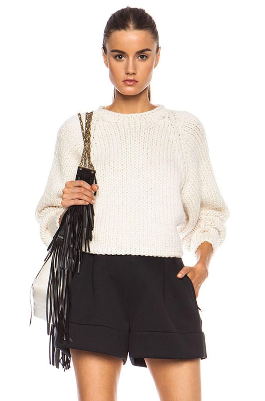 Image 1 of Chloe Wool Blend Sweater in Ecru