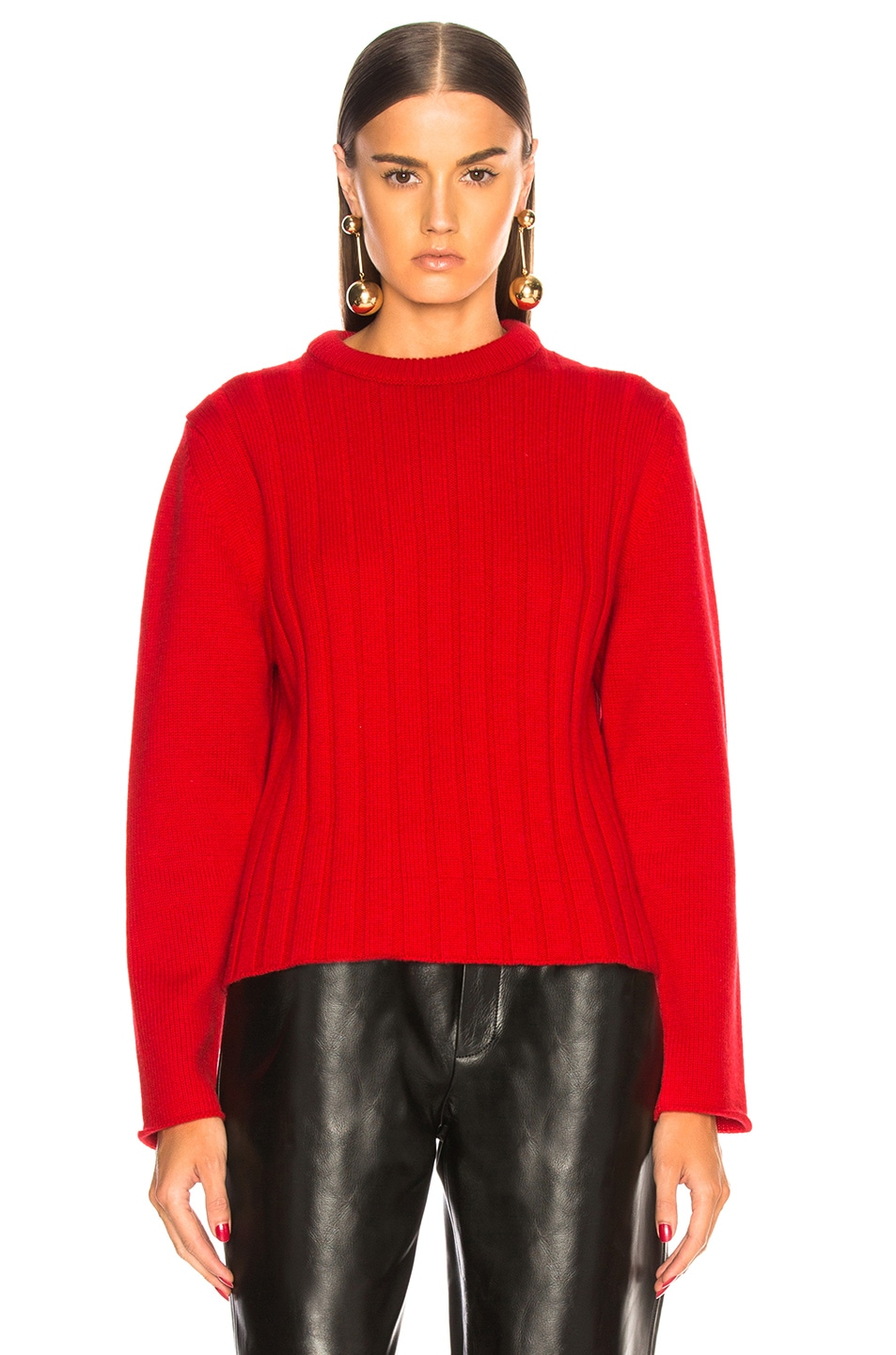Image 2 of Chloe Iconic Cashmere Crewneck Sweater in Earthy Red