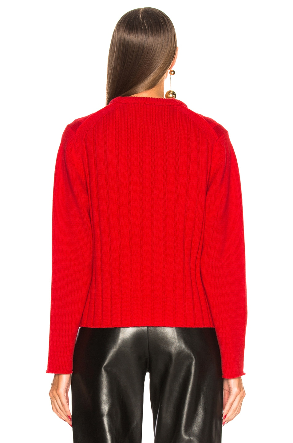 Image 4 of Chloe Iconic Cashmere Crewneck Sweater in Earthy Red