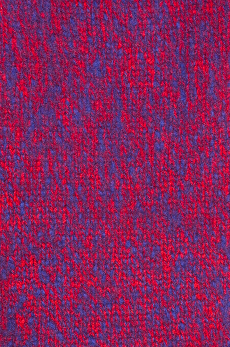 Image 6 of Chloe Brushed Bicolor Wool Cashmere Knit Crewneck Sweater in Blue & Red