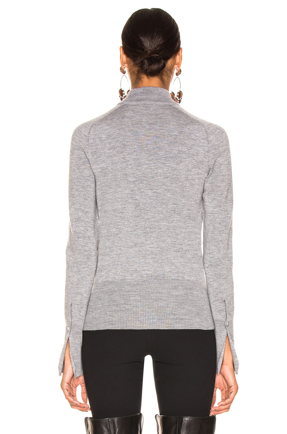 Image 4 of Chloe Cutout Choker Sweater in Confident Grey