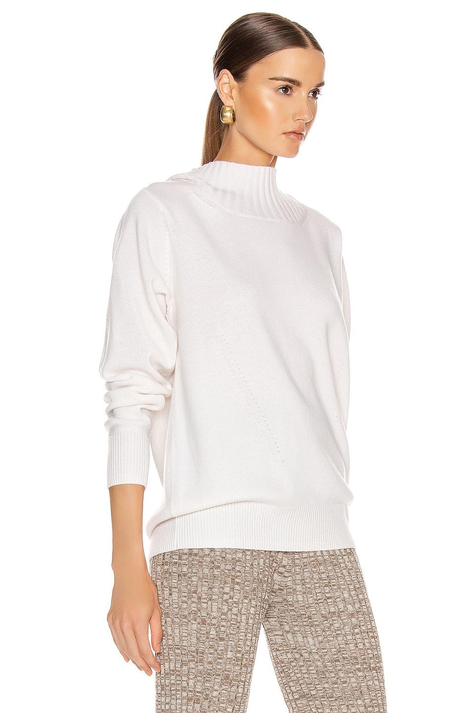 Image 2 of Chloe Open Back Tie Sweater in White