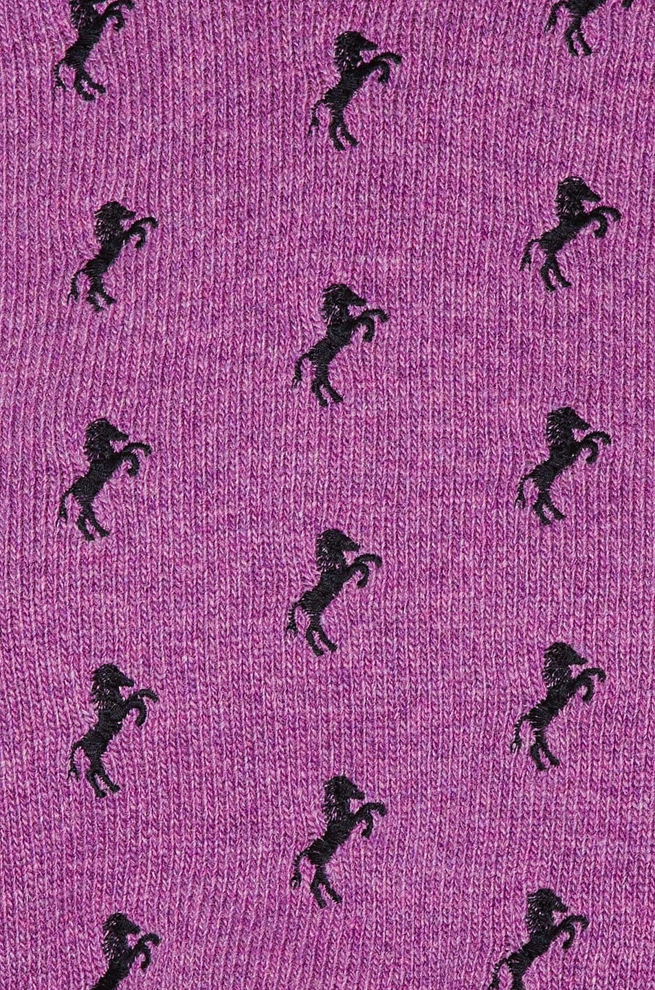Image 5 of Chloe Embroidered Horse Tie Sweater in Sparkling Purple