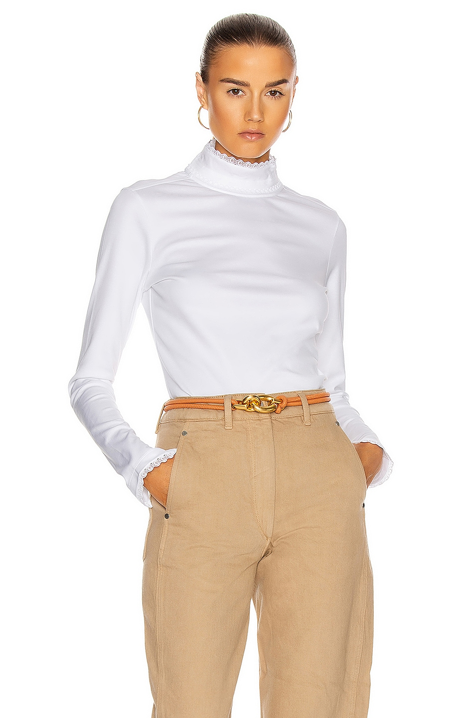 Image 1 of Chloe Turtleneck Sweater in White