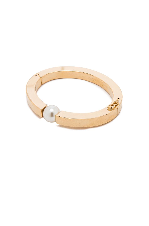 Image 1 of Chloe Brass Darcey Bracelet in Pearl