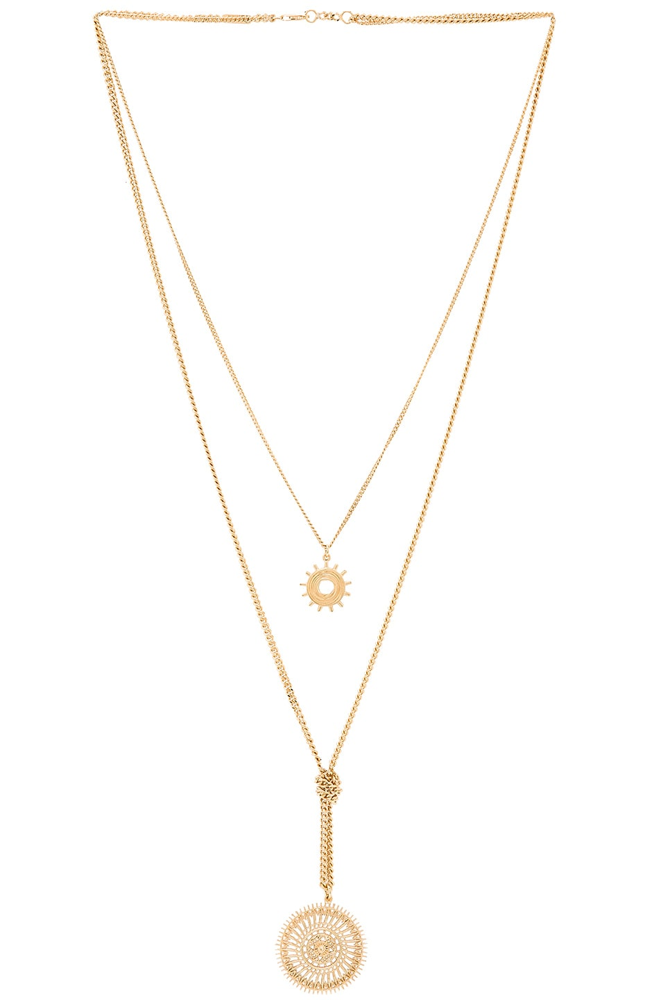 Image 1 of Chloe Isaure Long Pendant Necklace in Gold
