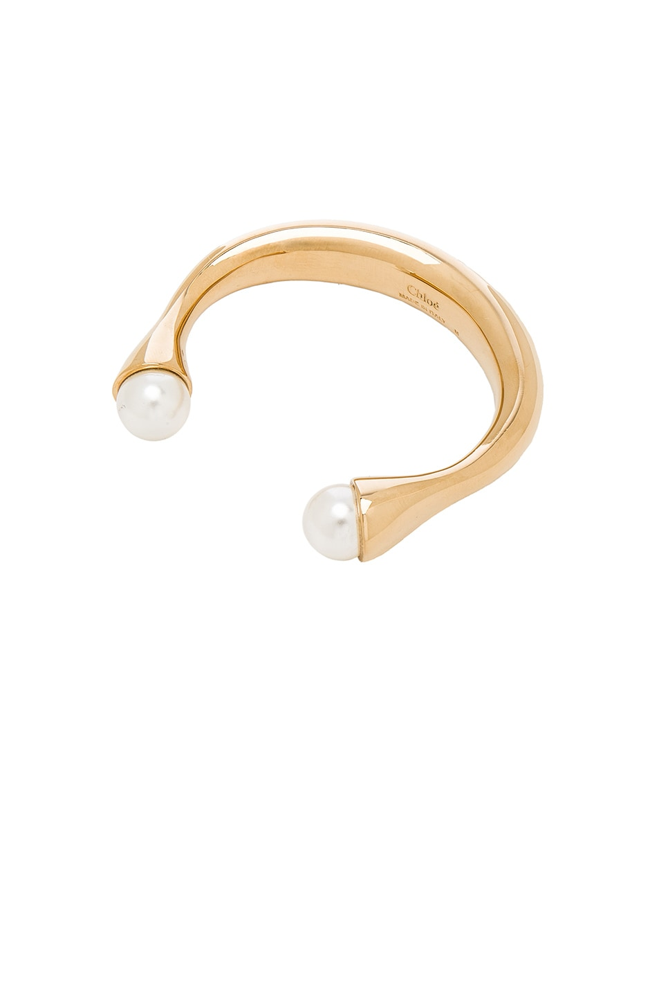 Image 1 of Chloe Darcey Cuff in Gold & Pearl
