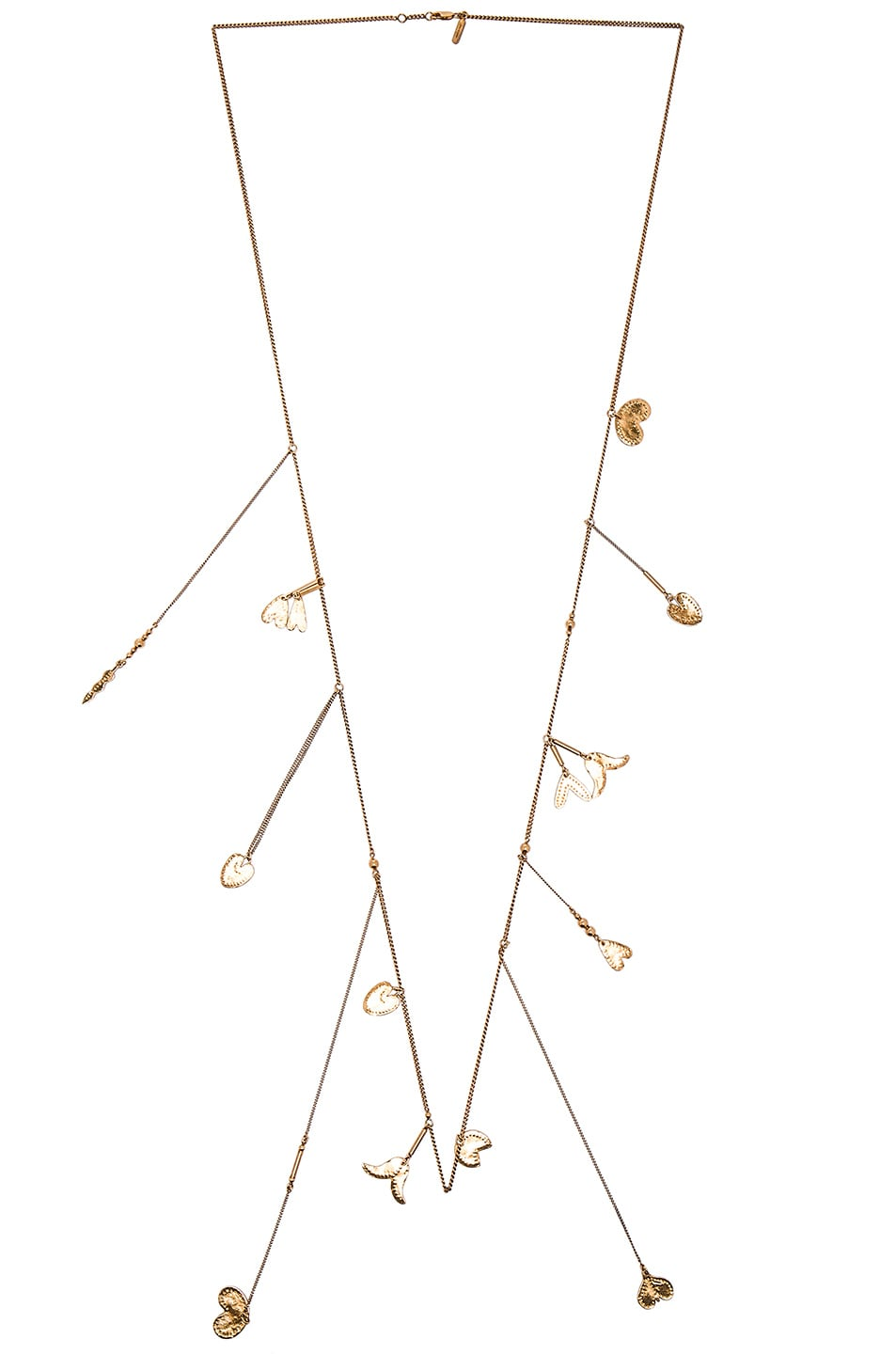 Image 1 of Chloe Keira Long Necklace in Golden Brass