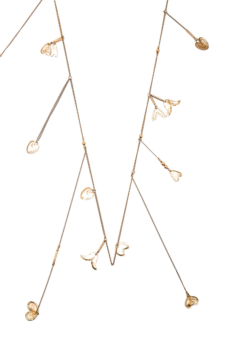 Image 2 of Chloe Keira Long Necklace in Golden Brass