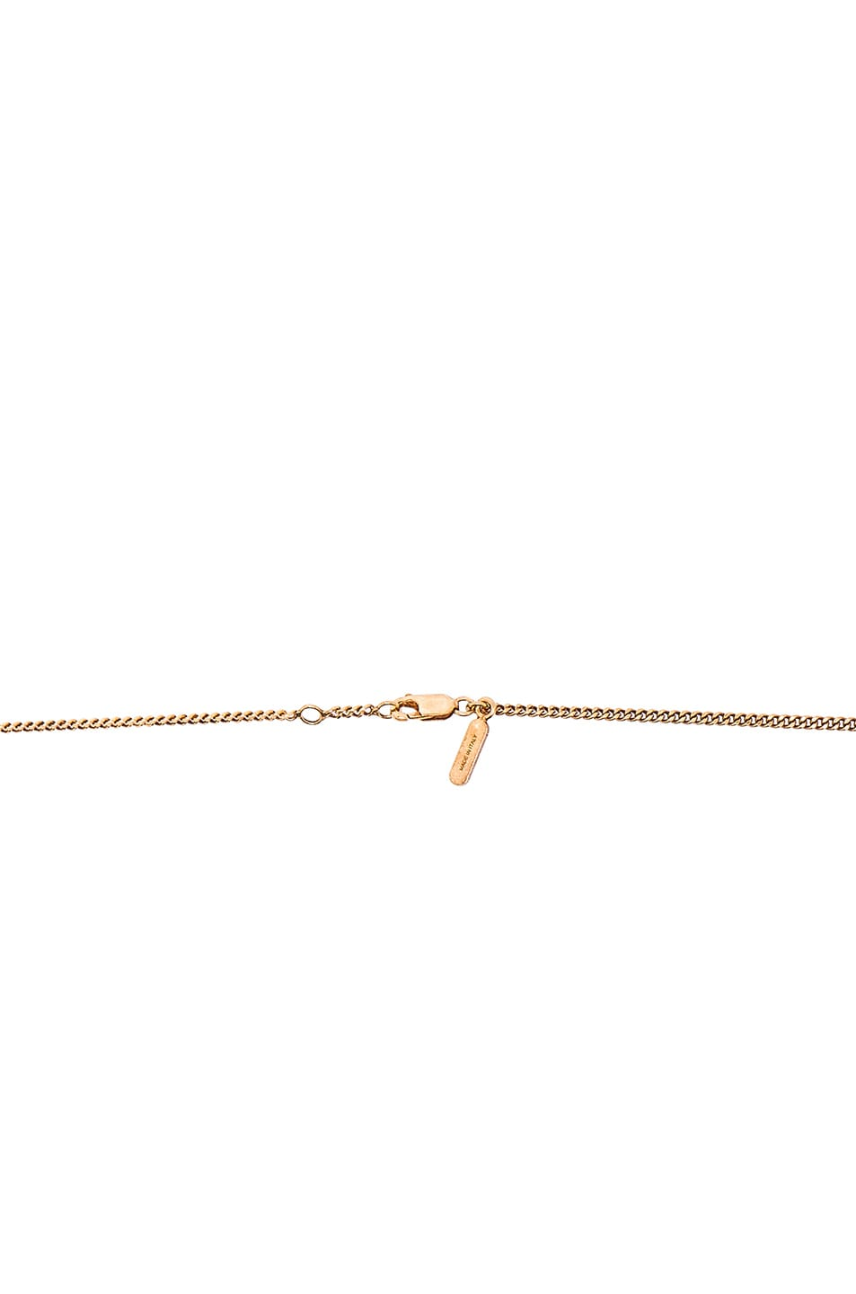 Image 3 of Chloe Keira Long Necklace in Golden Brass