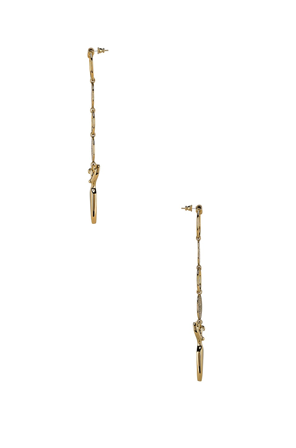 Image 3 of Chloe Charm Earrings in Gold