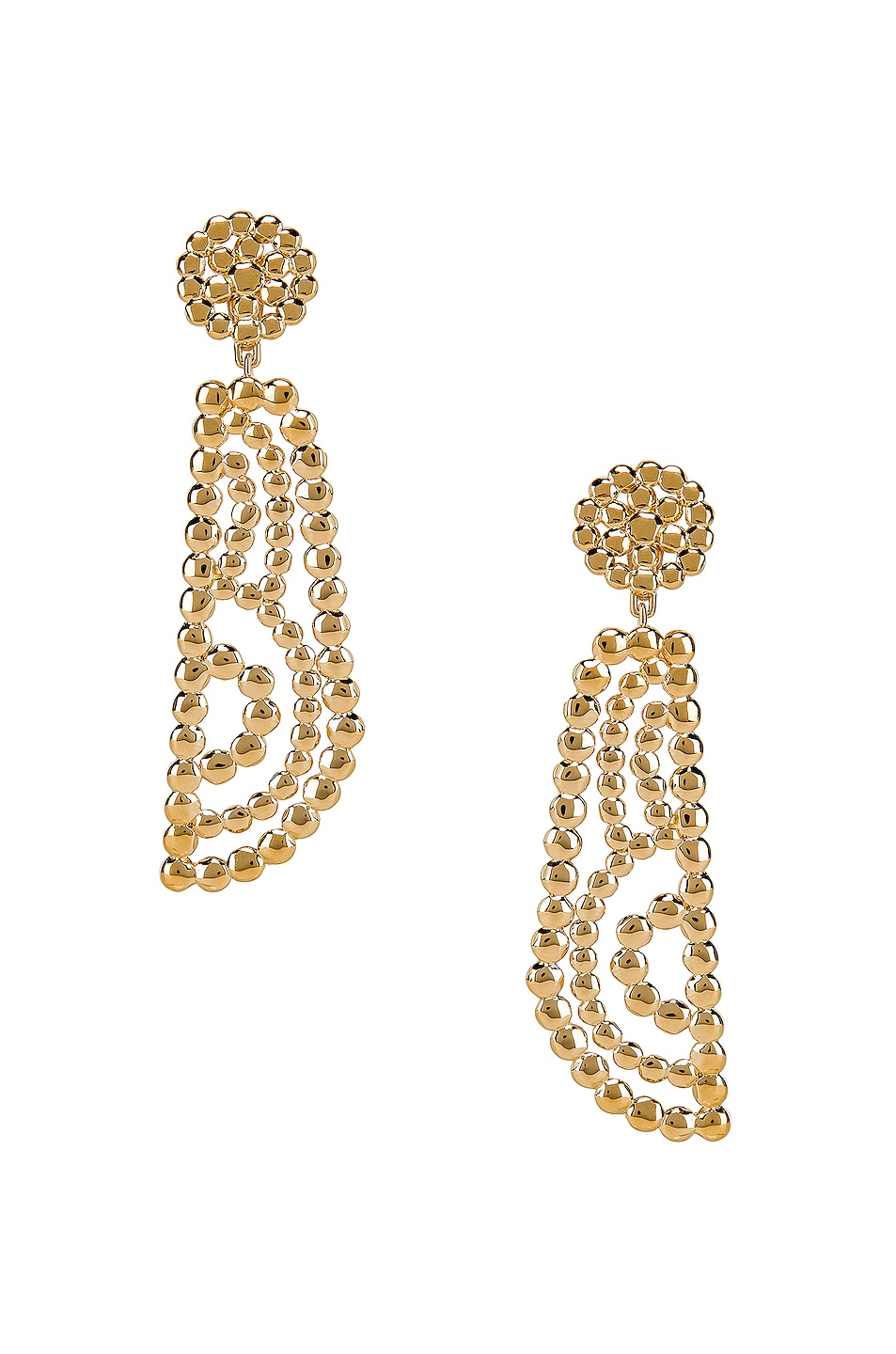 Image 1 of Chloe Statement Earrings in Gold