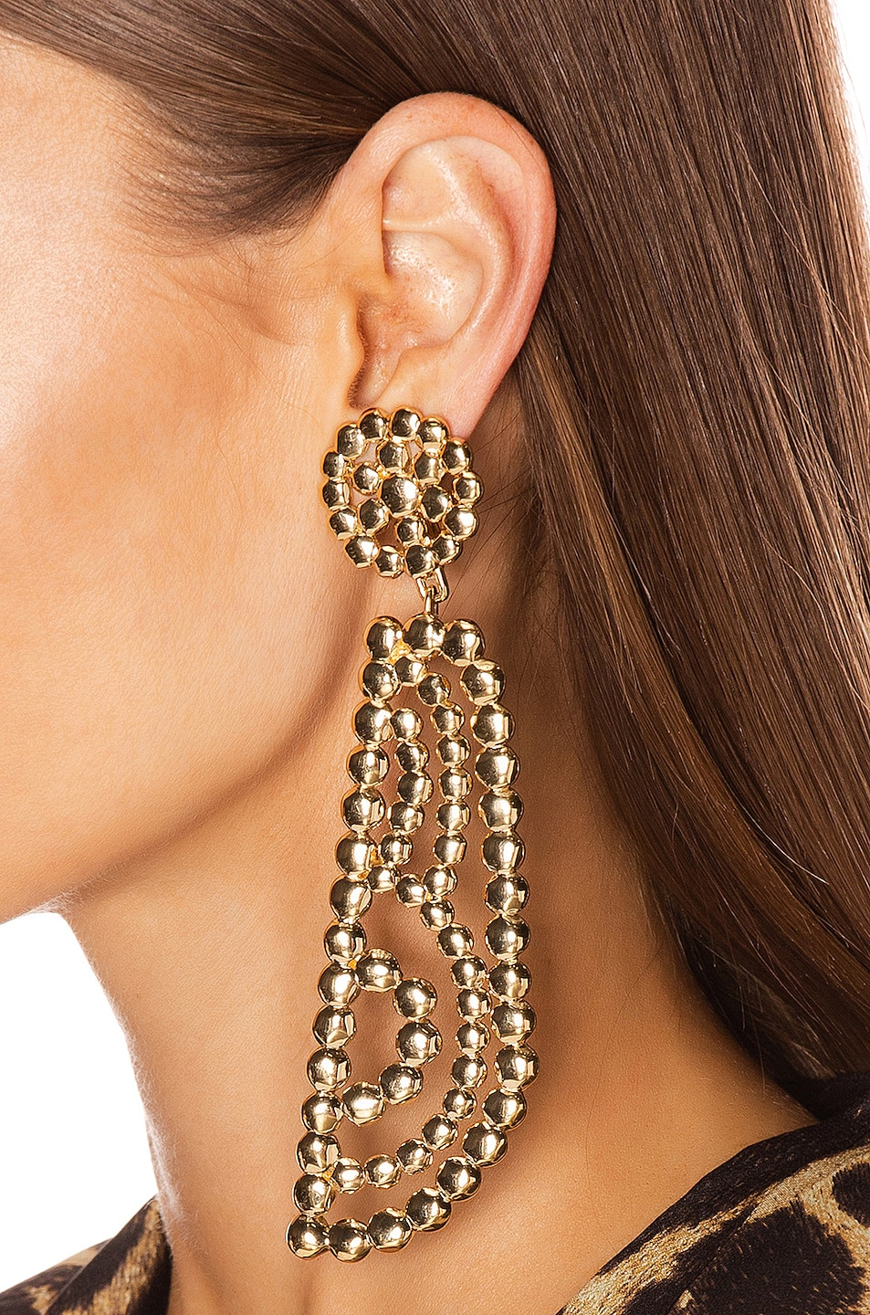Image 2 of Chloe Statement Earrings in Gold