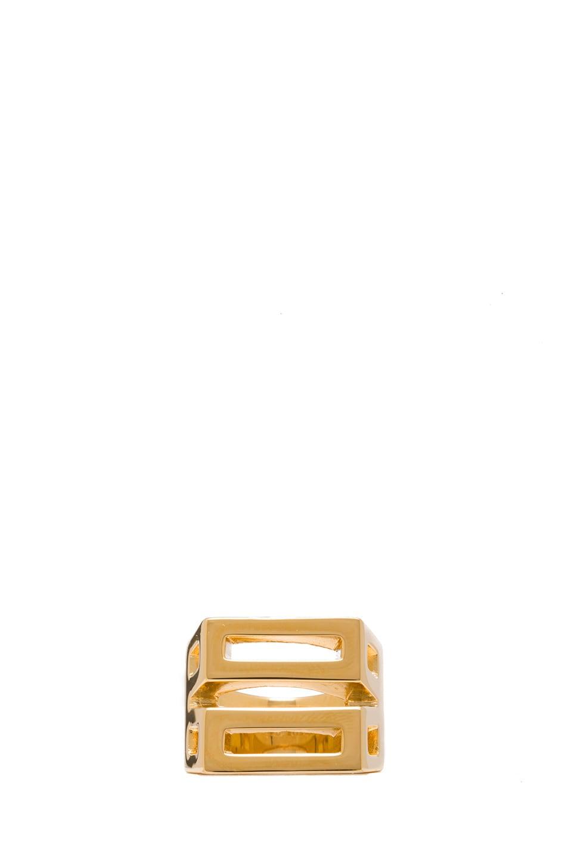 Image 1 of Chloe Bianca Brass Ring in Gold
