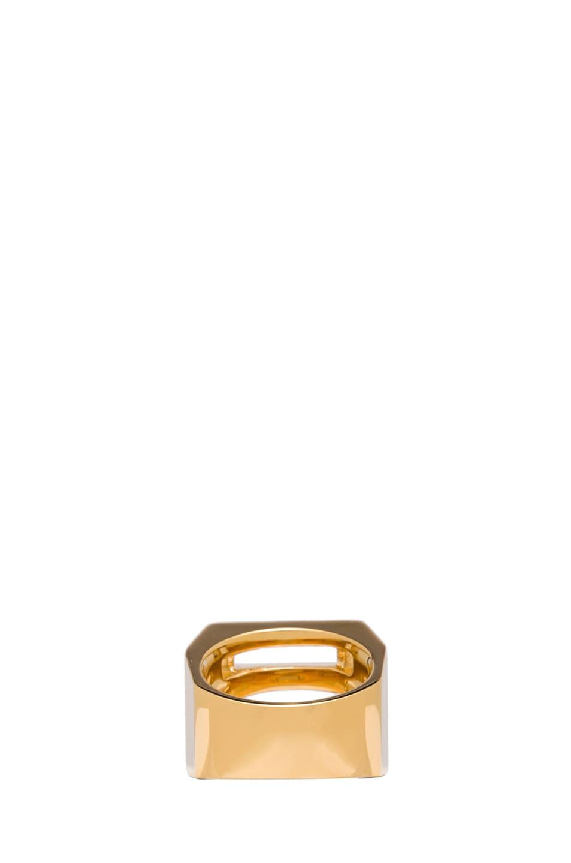 Image 3 of Chloe Bianca Brass Ring in Gold