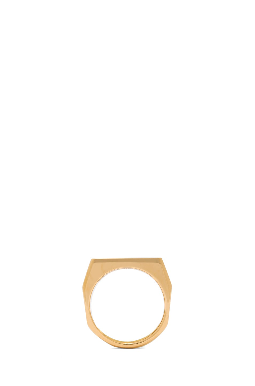 Image 4 of Chloe Bianca Brass Ring in Gold