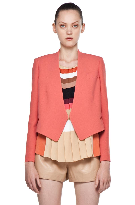 Image 1 of Chloe Crepe Cropped Blazer in Rose