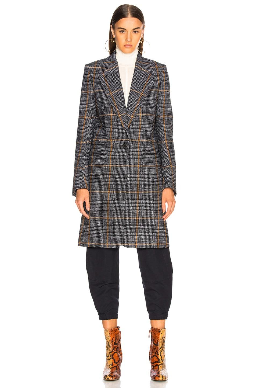 Image 2 of Chloe Prince de Galles Wool Mix Check Coat in Grey Multicolor