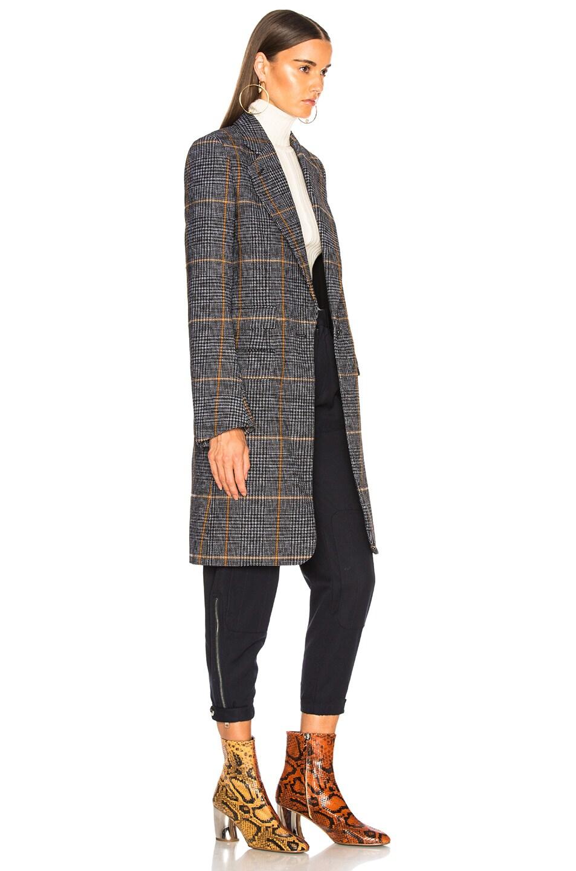 Image 3 of Chloe Prince de Galles Wool Mix Check Coat in Grey Multicolor