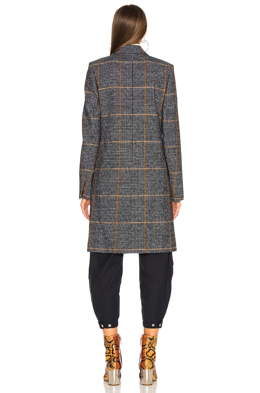 Image 4 of Chloe Prince de Galles Wool Mix Check Coat in Grey Multicolor