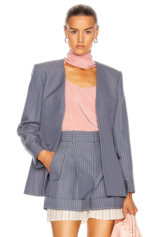 Image 1 of Chloe Pinstripe Blazer in Stormy Blue
