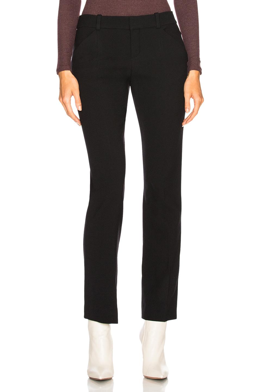 Image 1 of Chloe Diagonal Wool Trousers in Black