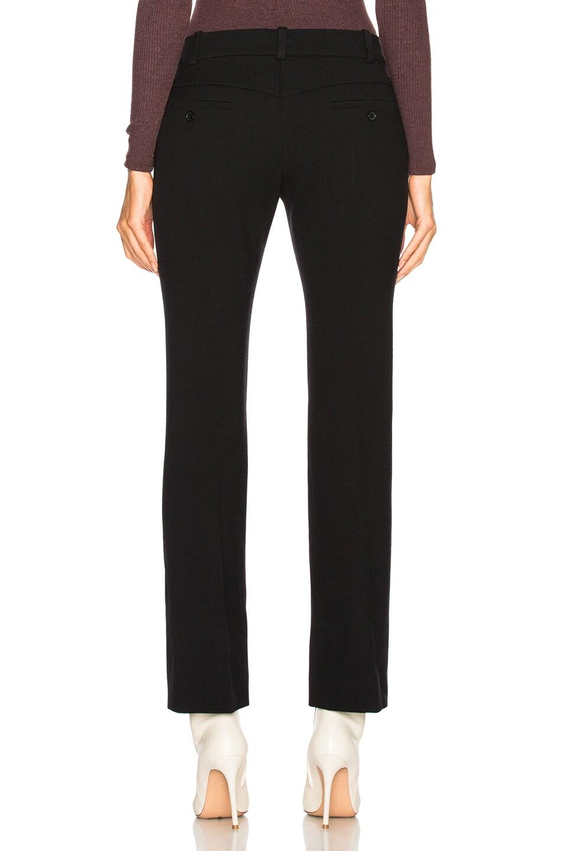 Image 3 of Chloe Diagonal Wool Trousers in Black