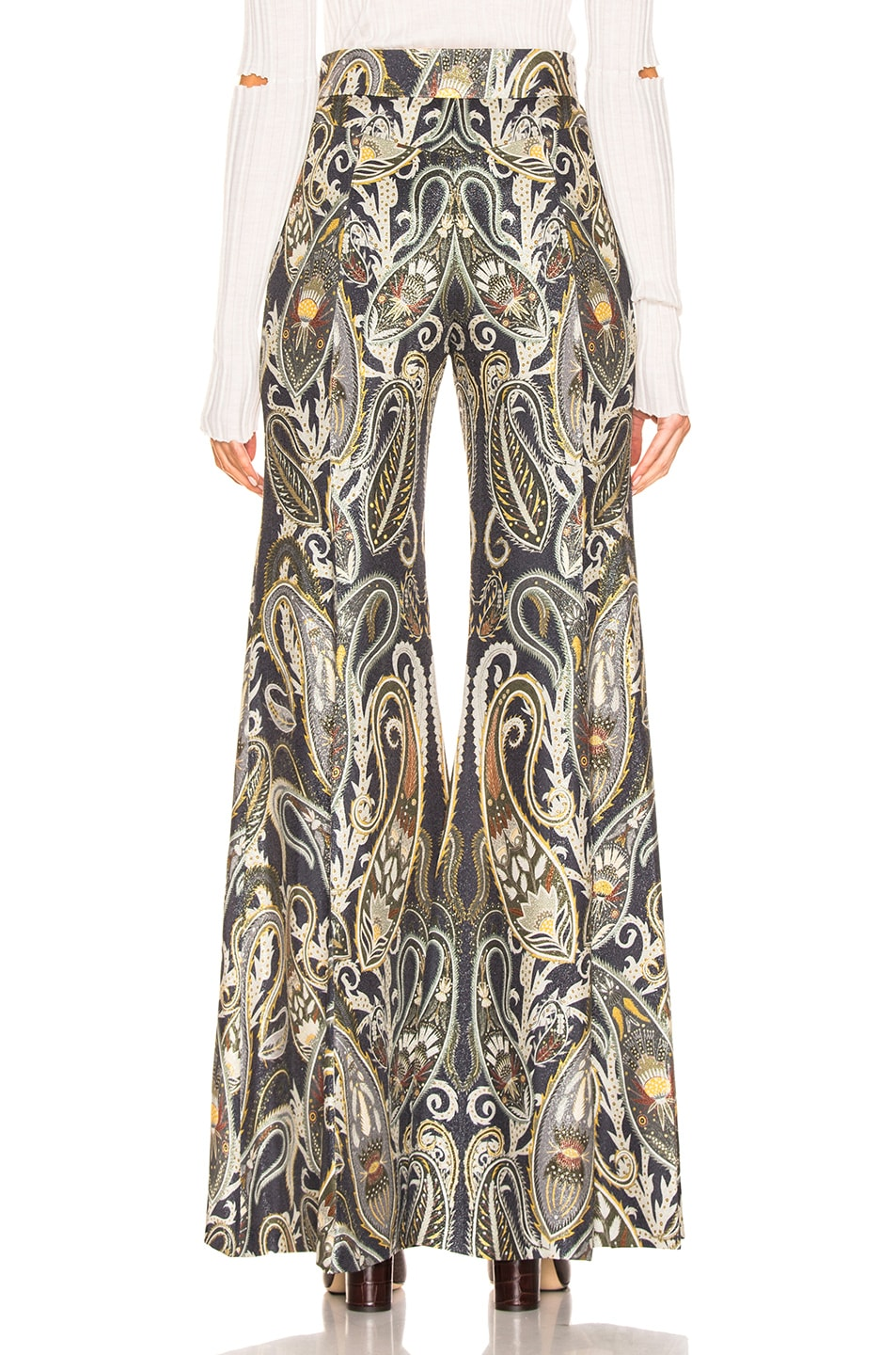 Image 3 of Chloe Paisley Print Pant in Shale Black