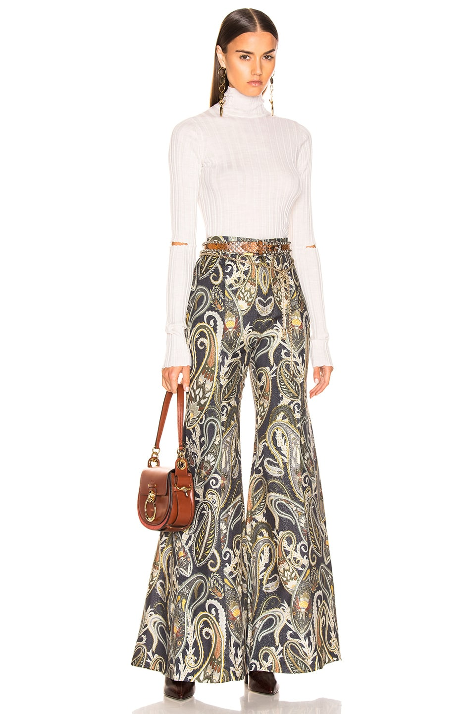 Image 4 of Chloe Paisley Print Pant in Shale Black