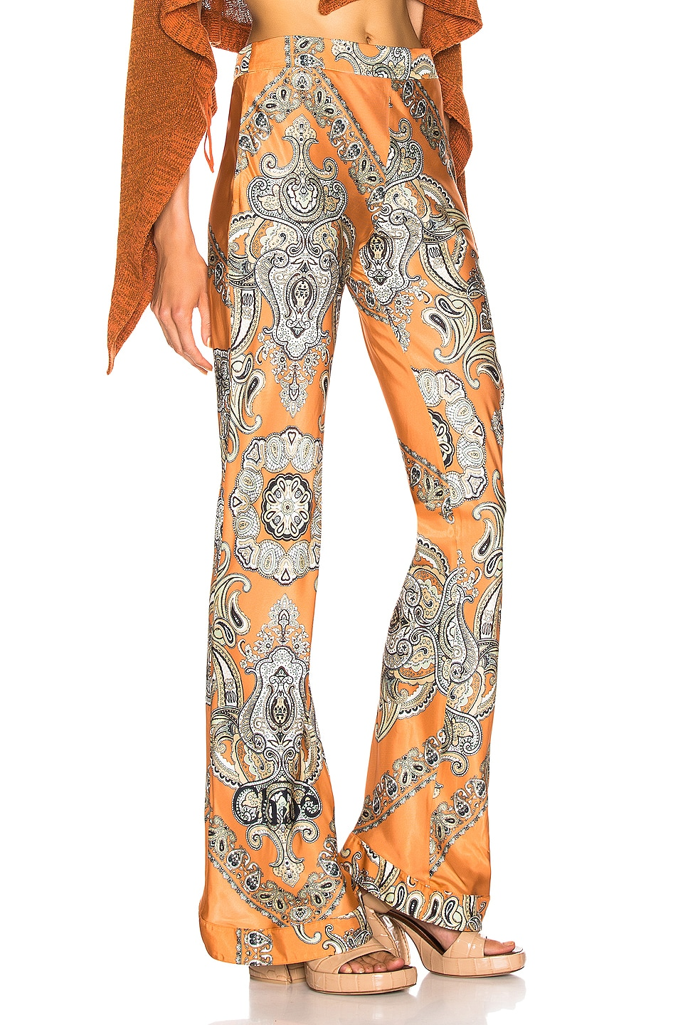 Image 2 of Chloe Persian Print Pant in Sienna Brown