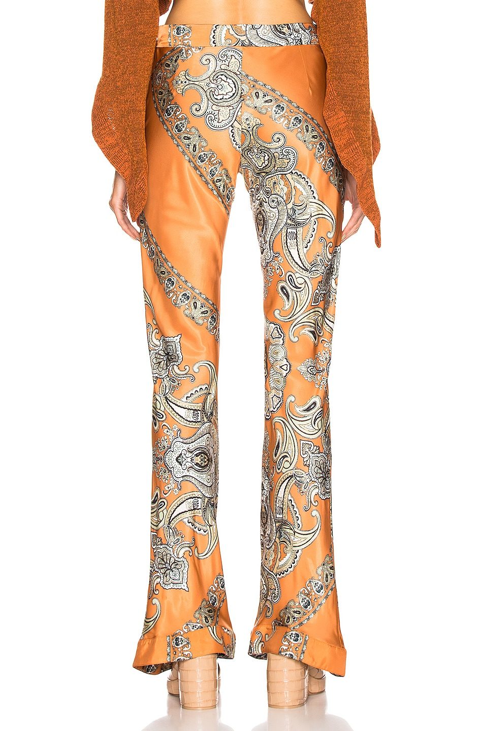 Image 3 of Chloe Persian Print Pant in Sienna Brown